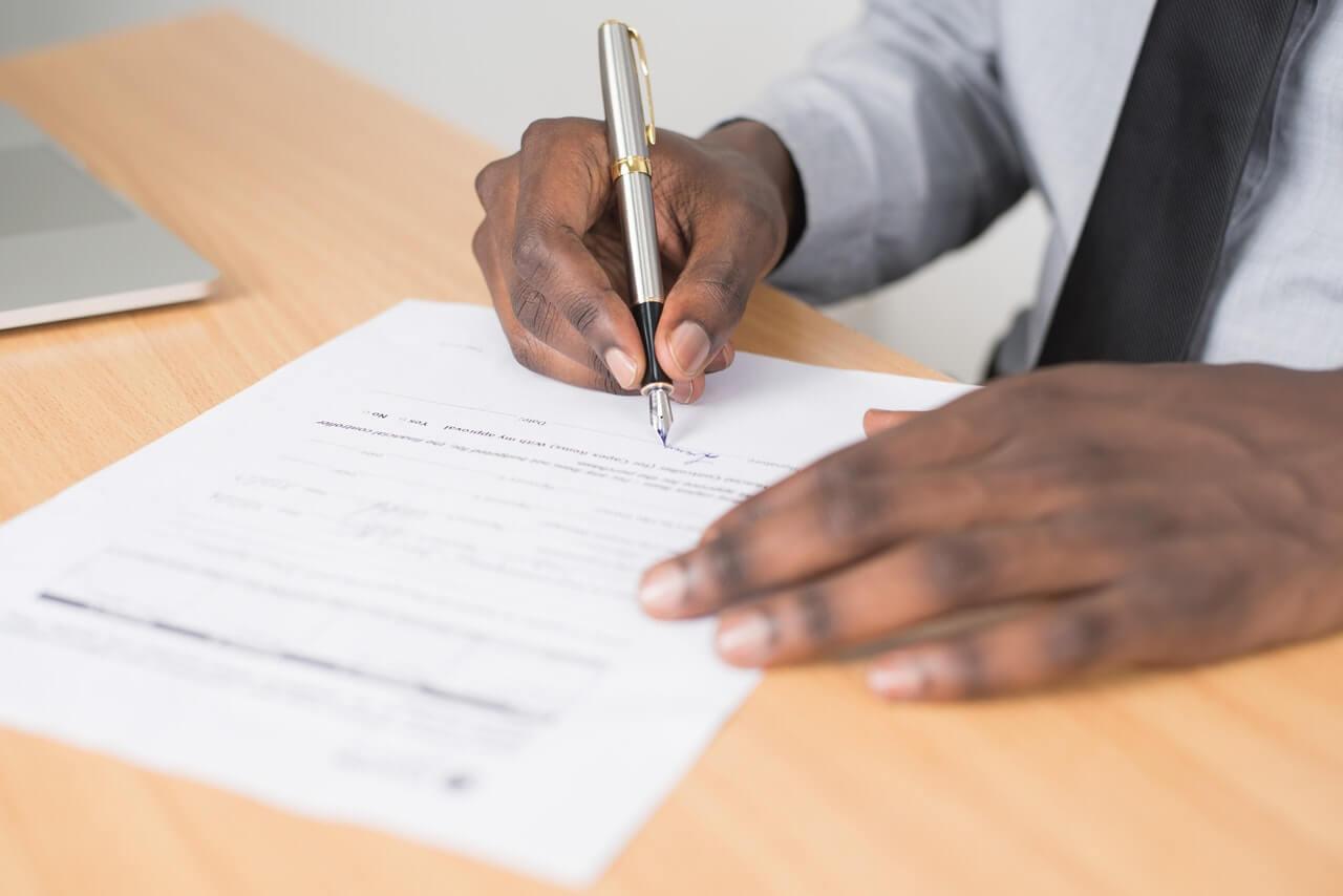 clean hands certificate paperwork