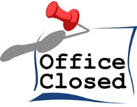 office closed, closures