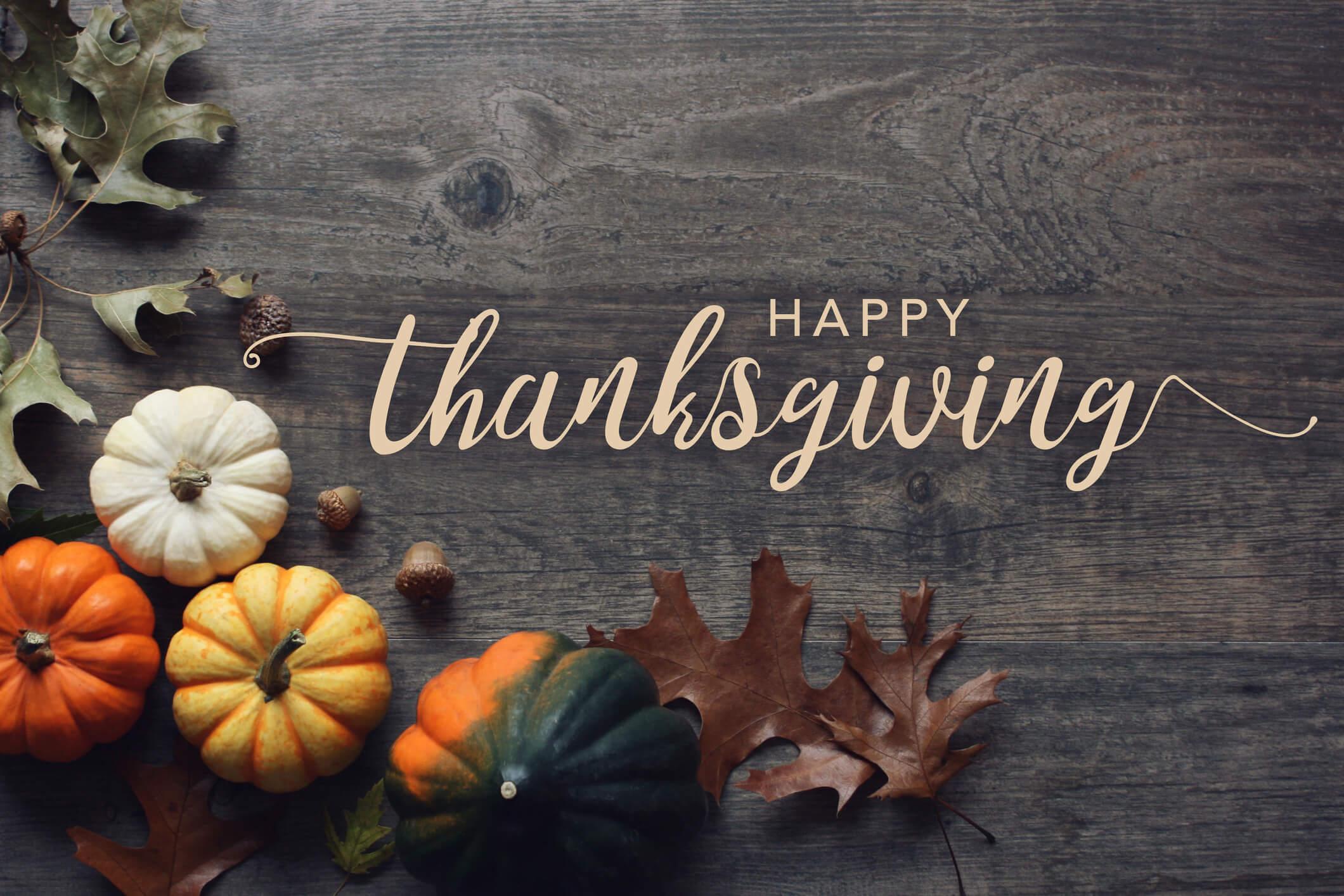 Thanksgiving Holiday Closing